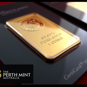 1 oz. Gold Bar, Perth Mint
